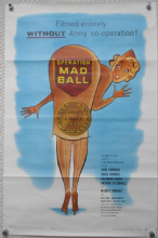 Operation Mad Ball, Original Movie Poster, Jack Lemmon, Ernie Kovacs, '57
